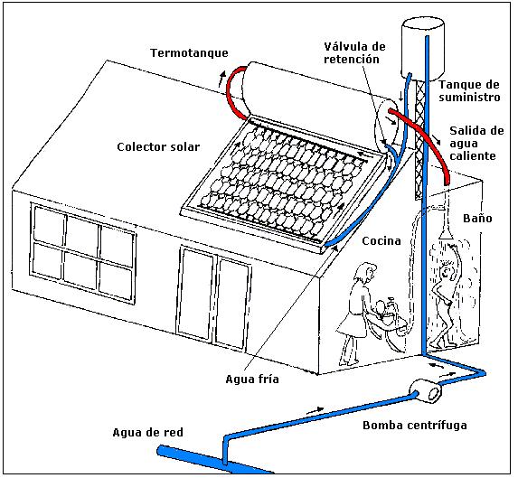 Calentadores solares de agua energ a ecol gica - Calentadores solares para piscinas ...